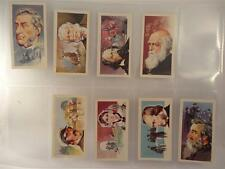 *FAMOUS PEOPLE CIGARETTE CARDS BY BROOKE BOND TEA X 8**