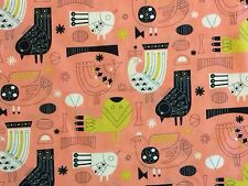 RPB350 MODA Atomic Retro Kitschy Kinetic Bird Minimal Art Cotton Quilt Fabric