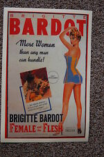 Female & the Flesh Lobby Card Movie Poster Brigitte Bardot