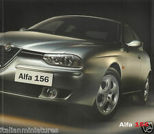 Alfa romeo 156 2002 uk sales brochure 3.2 gta 1.6 1.8 2.0 V6 2.5 48 page