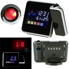 Projection Digital Weather LCD Snooze Alarm Clock Color Display & LED Backlight