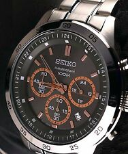 Seiko Quartz Chronograph Men's SKS521P1 Stainless Steel Date Watch