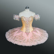 Professional Pink & Peach Sugar Plum Dew Drop Sleeping Beauty Ballet Tutu MTO