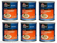 6  Cans - Beef Stroganoff - Mountain House Freeze Dried Emergency Food Supply