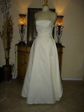 Jessica McClintock IVORY Wedding Dress Strapless Low Price Gold Roses Tulle 8