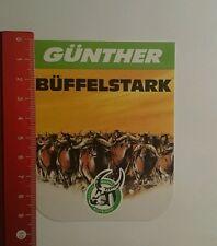 Aufkleber/Sticker: Günther Büffelstark Schutzmarke Büffelkopf (0909165)