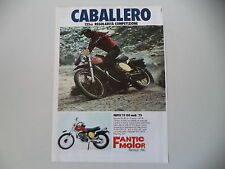 advertising Pubblicità 1975 MOTO FANTIC CABALLERO 125 RC MOD.  TX 150