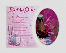 "21st Birthday Female Keepsake Photo Frame Album Scrap Book Mount 10"" x 8"" Gift"
