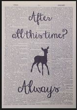 After All This Time Always Harry Potter Quote Vintage Dictionary Print Picture