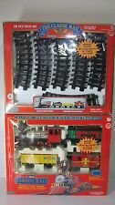 Bonus Double Set: Vtg Echo Classic Rail Battery Operated Train Large G Scale