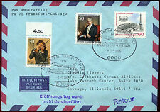 Germany 1986 Pan Am B747, Frankfurt - Chicago FFC First Flight Cover #C36534