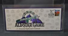 1998 Colorado Rockies All Star Game USPS Stamp First Day Cover Fancy Cancel Y9