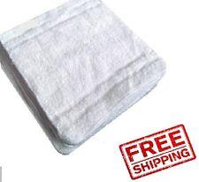 60 NEW WHITE 100% COTTON HOTEL WASH CLOTHS 12X12 60 WASHCLOTHS RIEGEL SELECT