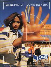 Publicité 1998  GAS vetement collection mode sport