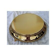"Gold Tapered Cake Stand Plateau Round 18"" Top 22"" Base - New"