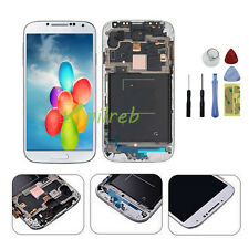 White Samsung Galaxy S4 i337 M919 LCD Touch Digitizer Screen Replacement + Frame