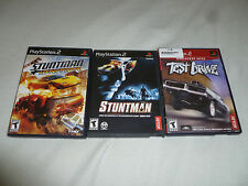 PLAYSTATION 2 GAME LOT OF 3 VIDEO GAMES TEST DRIVE STUNTMAN IGNITION PS2 DRIVING