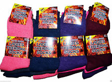 3 Pairs Women Ladies Girls Warm Winter Thermal Hiking Assorted Color Socks UK4-7