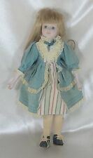 "Vintage Collectible 14""  Porcelain  & Cloth Doll  - Un-Marked"