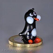 MINI Pinguin aus Glas, handgefertigte Glasfigur, Schönes Geschenk, 2 cm hoch