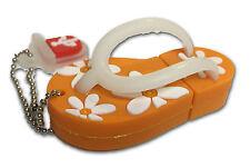 Tongs Sandale Orange - clé USB / 16 Go de mémoire / USB 3.0 Lecteur Flash
