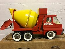 Vintage Structo Pressed Steel Turbine Toy Cement Mixer Truck 1960's With Box