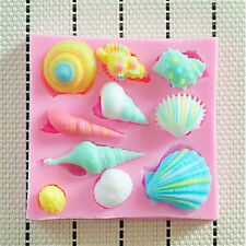 Sea Shell Starfish Snail Conch Shell Fondant Cake Mold Chocolate Mould Silicone