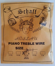 Schaff Roslau Piano Music Treble Wire Size 14 .033 1/3 Lb Coil 116' w Brake