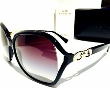 NEW* Coach BLACK w GOLD Kissing CC Women's Sunglass w COACH Case HC8145 $240
