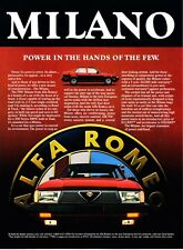"1987 Alfa Romeo Milano photo ""The Heart of a Beast"" promo print ad"