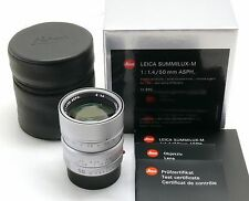 Leica 50mm f/1.4 Summilux-M ASPH lens 6-bit coded silver chrome 11892 box MINT-