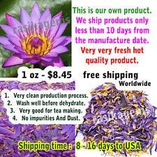 Dried Blue Lotus Flower Nymphaea Caerulea (Nuciferine) Herbal Tea Smoke Puff 1oz