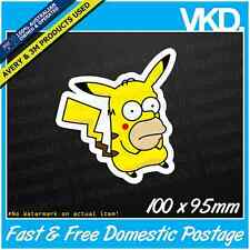 Homerchu Sticker/ Decal - Vinyl Pokemon Simpsons Funny Pikachu Mr Sparkles JDM