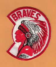 1960s MILWAUKEE BRAVES LARGE 4 inch INDIAN OLD LOGO JERSEY PATCH Unused Stock