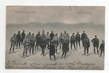 Carte postale SPORTS D'HIVER. Canadian Sport Series. Snowshoe Tramp. 1906