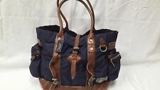 POLO RALPH LAUREN LEATHER-TRIMMED NYLON TOTE
