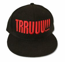 "2 CHAINZ ""TRUUU!!!"" BLACK BASEBALL CAP HAT NEW OFFICIAL ADULT BAND MUSIC"