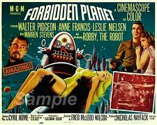 FP02 VINTAGE FORBIDDEN PLANET MOVIE POSTER A3 PRINT