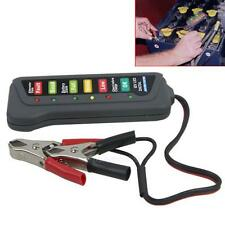 12V Car Motorcycle Digital Battery Alternator Tester 6-LED Display Vehicle ATV B