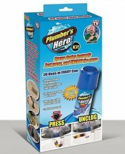 Plumber's Hero Kit - Unclog Drains Instantly - 20 Uses in Every Can - Mail Order