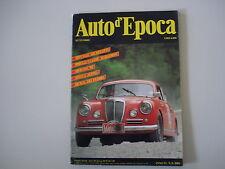 AUTO D'EPOCA 9/1989 MV AGUSTA 125/MICHELOTTI/SICILIA DEI FLORIO/STELLA ALPINA