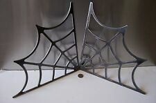 Spider Web Flame Cut Frame Gusset Steel Hot Rat Rod or Roll bar 90 degree 12""