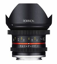 New Rokinon 12mm T2.2 Cine Ultra Wide Angle Video Lens for Fuji X