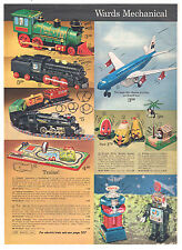 1967 WARDS DEPARTMENT STORE Catalog Pages Robots Airplanes Spaceman Space Scout!