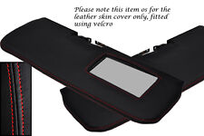 RED STITCHING FITS LOTUS ELAN M100 2X SUN VISORS LEATHER COVERS ONLY