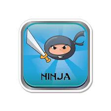 """Ninja car bumper sticker decal 4"""" x 4"""""""