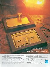 ▬► PUBLICITE ADVERTISING AD Gold Card AMERICAN EXPRESS 1985