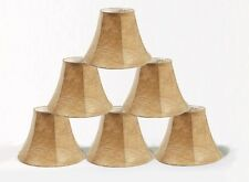 """Urbanest Faux Leather Mini Chandelier Lamp Shades Set of 6 Bell Softback 3x6""""x5"""""""