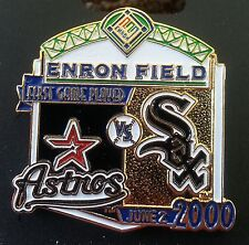 HOUSTON ASTROS vs CHICAGO WHITE SOX First Game Played ENRON FIELD Lapel Pin