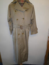 Genuine Burberry marron clair mac trench-coat imperméable taille uk 10 l euro 38 l